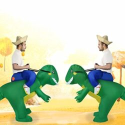 ANOTHERME-Dinosaur-Riding-T-REX-Inflatable-Fancy-Dress-Halloween-Party-Blow-Up-Costume-for-Adults-Child-0-4