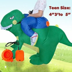 ANOTHERME-Dinosaur-Riding-T-REX-Inflatable-Fancy-Dress-Halloween-Party-Blow-Up-Costume-for-Adults-Child-0-5