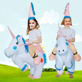 ANOTHERME-Unicorn-Rider-Inflatable-Costume-for-Adults-Child-Halloween-Blow-Up-Fancy-Dress-0-4