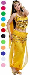 Adult-Genie-Outfit-Bollywood-Costume-Accessories-Belly-Dance-Top-and-Pants-Costumes-for-Women-Yellow-0