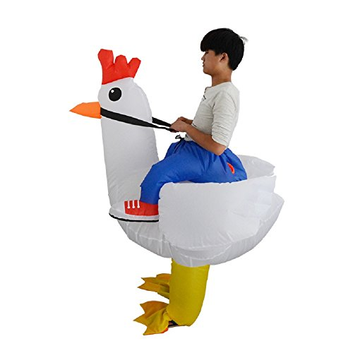 Adult-Inflatable-Costume-Rooster-Chicken-Big-Cock-Blow-Up-Funny-Animal-Cosplay-Suit-White-0