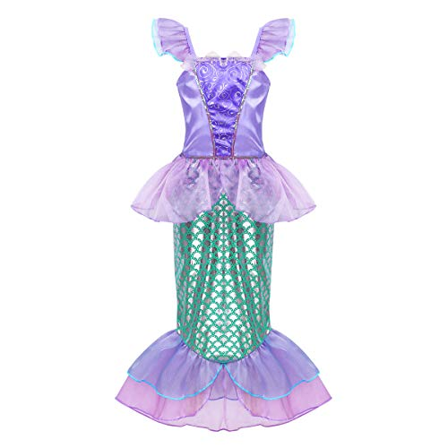 Agoky Girl's Kids Little Mermaid Princess Party Dress Fairy Tales Costume Cosplay Fancy Dress