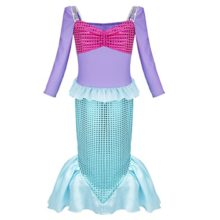 Alvivi-Girls-Little-Mermaid-Halloween-Costumes-Princess-Fairy-Tales-Fancy-Dress-Dress-up-Clothes-0