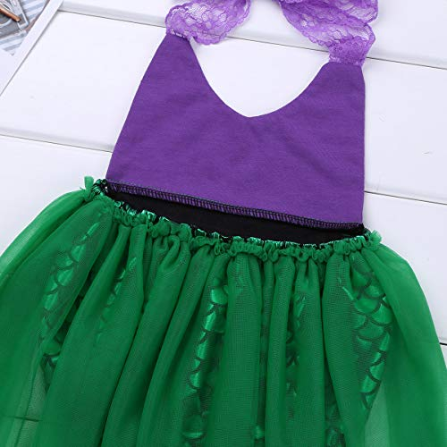 Alvivi-Toddler-Baby-Girl-Mermaid-Costume-Lace-Straps-Halter-Romper-with-Headband-Outfit-0-3