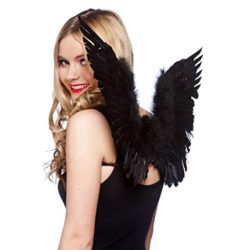 Angel-Costumes-for-Women-Kids-Black-White-Feather-Wings-0-0