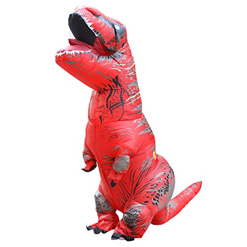 BIGPETS-Inflatable-Adult-Dinosaur-Costume-T-Rex-Cosplay-Suit-Fancy-Dress-Halloween-Red-0