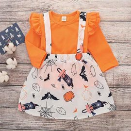 Baby-Halloween-DressLittle-Girls-Long-Sleeve-Tops-Strap-Skirt-2-Piece-Casual-Outfits-Set-0-0