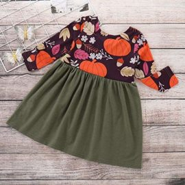 Baby-Toddler-Kids-Girl-Long-Sleeve-Pumpkin-Splice-Halloween-Dress-Party-Clothes-Dresse-0-1