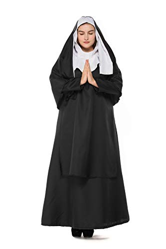 Boleyn Women's Classic Nun Costume Halloween Dress Cosplay (Plus Size)
