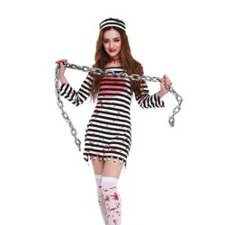 CHNS-Women-Halloween-Horror-Zombie-Bloody-Clothes-Prisoners-Cosplay-Costume-Dress-0-2