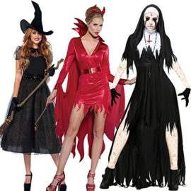 COMVIP-Halloween-Gothic-Dreadful-Bloody-Cosplay-Hat-Dress-Costume-0-0