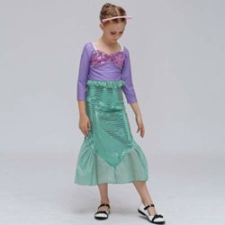 COSAUG-Little-Mermaid-Costume-Christmas-Dress-up-for-Kids-0-0
