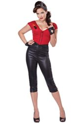California-Costumes-Womens-Hot-Rod-Honey-Sexy-50s-Pin-Up-Costume-RedBlack-X-Small-0