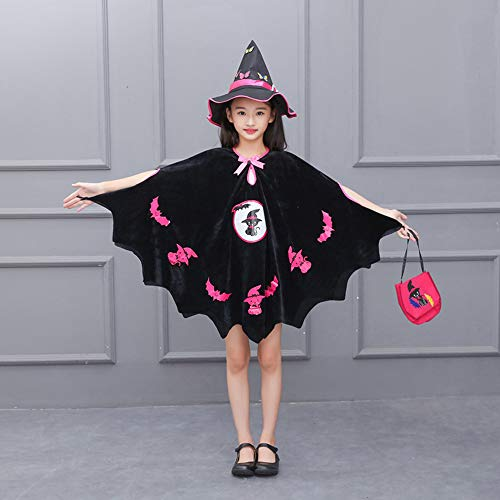 Clearance-SaleToimoth-Kids-Baby-Girls-Halloween-Costume-Dress-Party-CloakHat-OutfitPumpkin-Bag-0-3