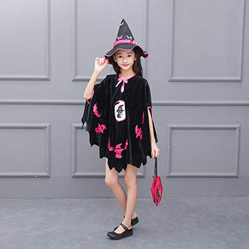Clearance-SaleToimoth-Kids-Baby-Girls-Halloween-Costume-Dress-Party-CloakHat-OutfitPumpkin-Bag-0-4