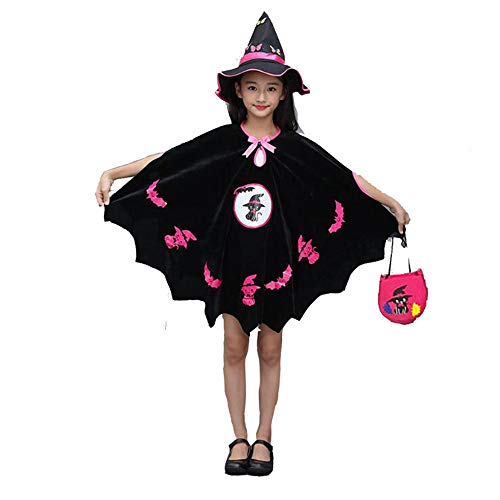 Clearance-SaleToimoth-Kids-Baby-Girls-Halloween-Costume-Dress-Party-CloakHat-OutfitPumpkin-Bag-0