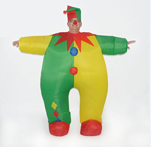 DREAMOWL-Unisex-Adult-Circus-Clown-Inflatable-Blow-up-Color-Body-Halloween-Costume-Jumpsuit-0-0