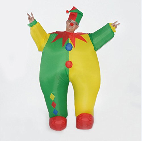 DREAMOWL-Unisex-Adult-Circus-Clown-Inflatable-Blow-up-Color-Body-Halloween-Costume-Jumpsuit-0-2