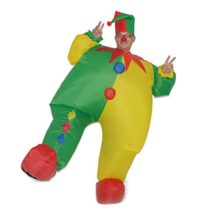 DREAMOWL-Unisex-Adult-Circus-Clown-Inflatable-Blow-up-Color-Body-Halloween-Costume-Jumpsuit-0