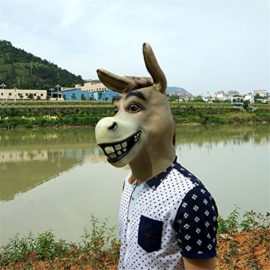 Donkey-Mask-Latex-Realistic-Funny-Halloween-Animal-Costume-Cosplay-Headgear-0-0