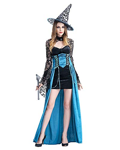 ENQI TRADE Womens Halloween Costume for Adult Fancy Party Dress Witch Cosplay Costumes