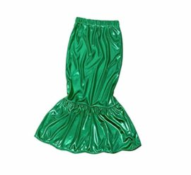 FEESHOW-Girls-Little-Mermaid-Halloween-Costume-Long-Sleeve-Seashell-Top-Shirt-with-Tail-Skirt-Outfit-0-0