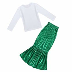 FEESHOW-Girls-Little-Mermaid-Halloween-Costume-Long-Sleeve-Seashell-Top-Shirt-with-Tail-Skirt-Outfit-0-2