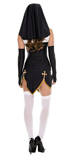 Faerynicethings-Adult-Size-Bad-Habit-Nun-Costume-Includes-Thigh-Highs-2-Sizes-0-0