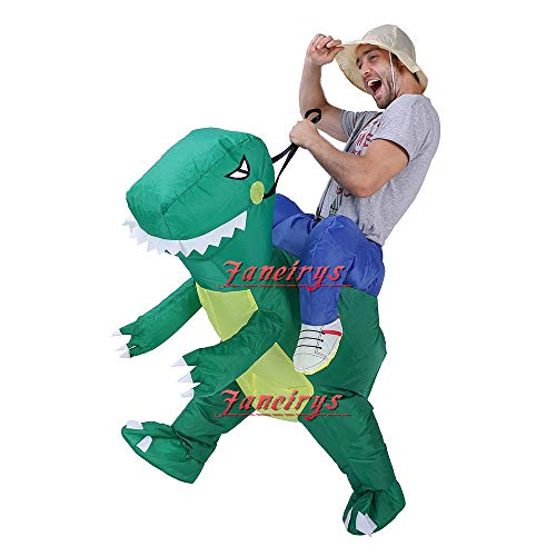 Faneirys-Inflatable-Dinosaur-T-REX-Costume-Inflatable-Costumes-for-Adults-Halloween-Costume-Blow-up-Costume-Green-0-0