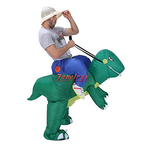 Faneirys-Inflatable-Dinosaur-T-REX-Costume-Inflatable-Costumes-for-Adults-Halloween-Costume-Blow-up-Costume-Green-0-1