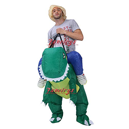 Faneirys-Inflatable-Dinosaur-T-REX-Costume-Inflatable-Costumes-for-Adults-Halloween-Costume-Blow-up-Costume-Green-0-2