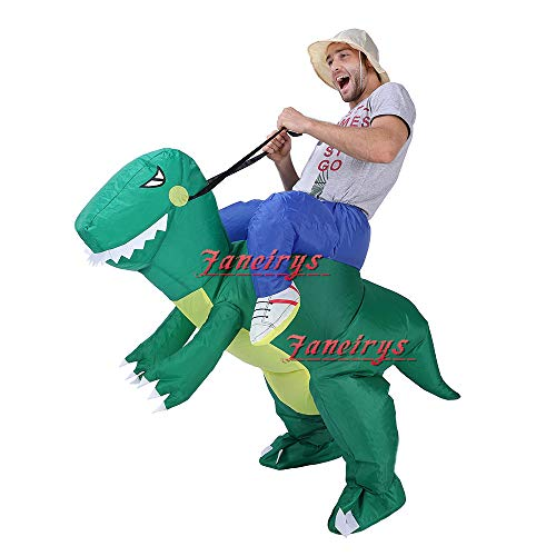 Faneirys-Inflatable-Dinosaur-T-REX-Costume-Inflatable-Costumes-for-Adults-Halloween-Costume-Blow-up-Costume-Green-0