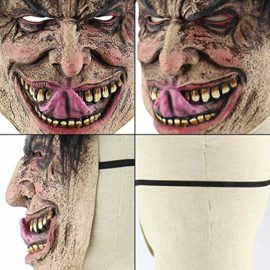 Feoya-Halloween-Ghost-Mask-Novelty-Costume-Party-Cosplay-Scary-Evil-Clown-Mask-0-4