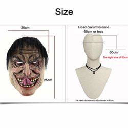 Feoya-Halloween-Ghost-Mask-Novelty-Costume-Party-Cosplay-Scary-Evil-Clown-Mask-0-5