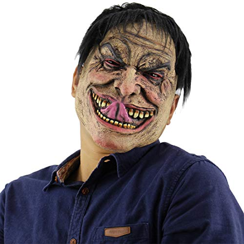 Feoya Halloween Ghost Mask Novelty Costume Party Cosplay Scary Evil Clown Mask