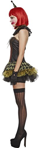 Fever-Womens-Creepy-Zombie-Clown-with-Dress-Hat-Cuffs-and-Collar-0-1