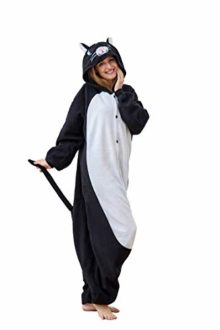 Flora-Huxley-Adult-Cat-Animal-Onesie-Pajamas-Sloth-Cosplay-Costumes-Halloween-for-Teens-0