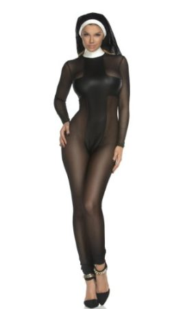 Forplay-Womens-Sinful-Sister-Catsuit-and-Headpiece-0-1