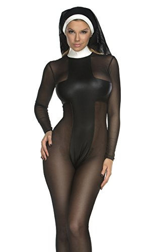 Forplay Women's Sinful Sister Catsuit and Headpiece
