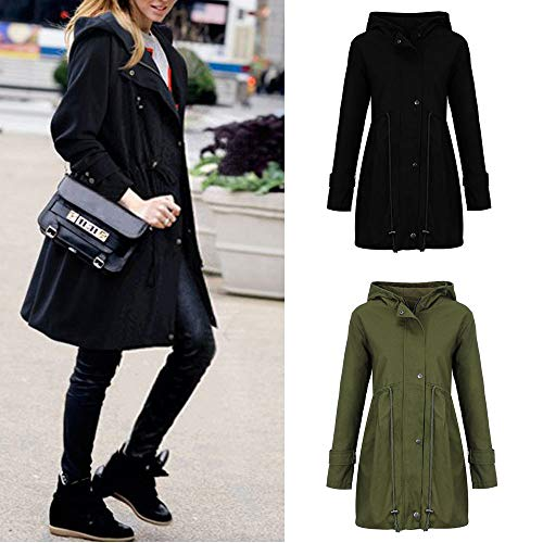 Forthery-Clearance-Womens-Long-Jacket-Parka-Coat-Double-Breasted-Trench-Coat-Overwear-0-1