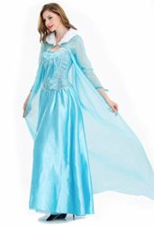 Frozen-Elsa-Princess-Cosplay-Dress-Female-Halloween-Costume-Silk-Party-Costume-Light-Blue-Color-0-2