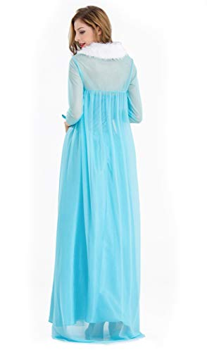 Frozen-Elsa-Princess-Cosplay-Dress-Female-Halloween-Costume-Silk-Party-Costume-Light-Blue-Color-0-3