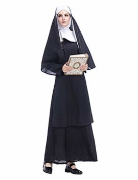 GRACIN-Womens-Nun-Costume-Cosplay-2-PCS-Mother-Roleplay-Dress-for-Halloween-0-0