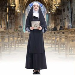 GRACIN-Womens-Nun-Costume-Cosplay-2-PCS-Mother-Roleplay-Dress-for-Halloween-0-2