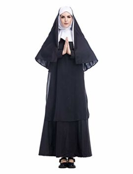 GRACIN-Womens-Nun-Costume-Cosplay-2-PCS-Mother-Roleplay-Dress-for-Halloween-0