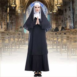 GRACIN-Womens-Nun-Costume-Cosplay-2-PCS-Mother-Roleplay-Dress-for-Halloween-0-3