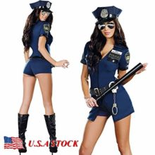 Gatton-Women-Police-Officer-Cop-Adult-Cosplay-Halloween-Costume-Complete-Outfit-0