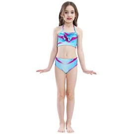 Girl-3Pcs-Mermaid-Tail-Swimmable-Halter-Bikini-Set-Bathing-Suit-Swimwear-Halloween-Costume-0-4