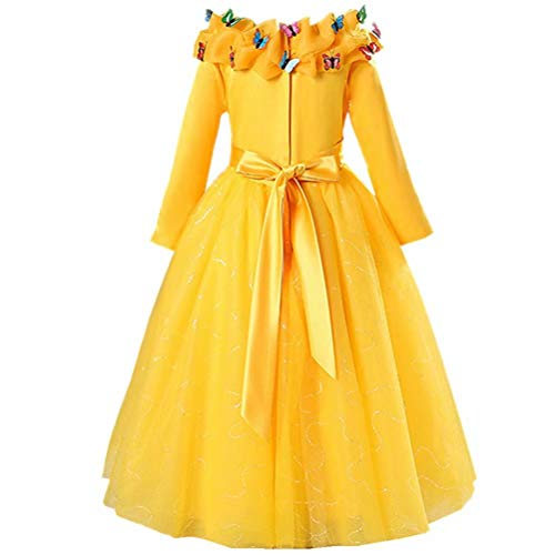 Girls-Princess-Belle-Anna-Costume-Halloween-Dress-Party-Gowns-For-3-12Y-0-0