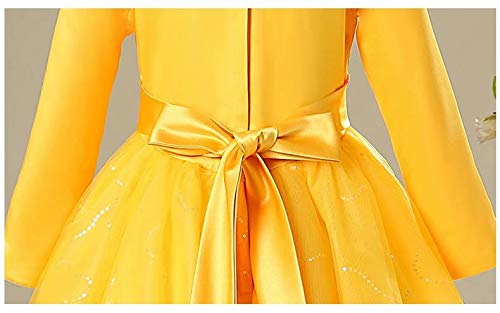 Girls-Princess-Belle-Anna-Costume-Halloween-Dress-Party-Gowns-For-3-12Y-0-2